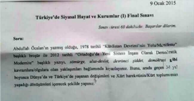 kürdistan üniversite sorusu