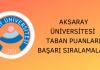 Aksaray Üniversitesi Taban Puanları