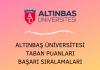 Altınbaş Üniversitesi 2020 Taban Puanları