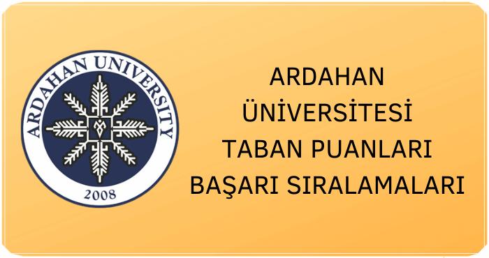 Ardahan Üniversitesi Taban Puanları