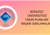 Boğaziçi Üniversitesi Taban Puanları