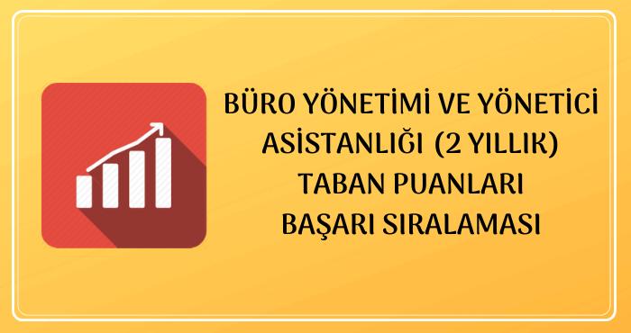 Büro Yönetimi ve Yönetici Asistanlığı 2020 Taban Puanları