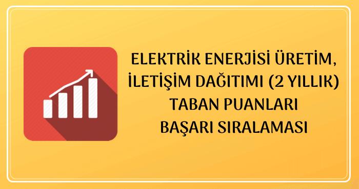 Elektrik Enerjisi Üretim, İletim, Dağıtımı 2020 Taban Puanları