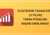 Elektronik Teknolojisi Taban Puanları