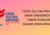 Fatih Sultan Mehmet Vakıf Üniversitesi Taban Puanları