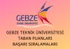 Gebze Teknik Üniversitesi 2020 Taban Puanları