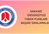 Hakkari Üniversitesi Taban Puanları
