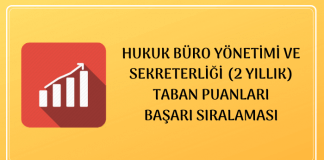 Hukuk Büro Yönetimi ve Sekreterliği Taban Puanları