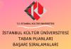 İstanbul Kültür Üniversitesi Taban Puanları