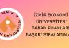 İzmir Ekonomi Üniversitesi Taban Puanları