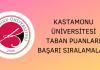 Kastamonu Üniversitesi 2020 Taban Puanları
