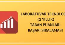 Laboratuvar Teknolojisi 2020 Taban Puanları