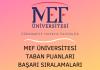 MEF Üniversitesi Taban Puanları