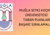 Muğla Sıtkı Koçman Üniversitesi 2020 Taban Puanları