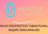 Munzur Üniversitesi 2020 Taban Puanları