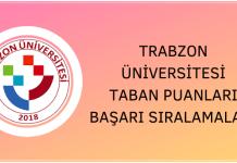 Trabzon Üniversitesi Taban Puanları