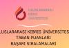 Uluslararası Kıbrıs Üniversitesi 2020 Taban Puanları