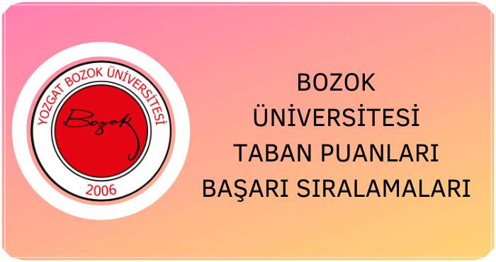 Bozok Üniversitesi Taban Puanları