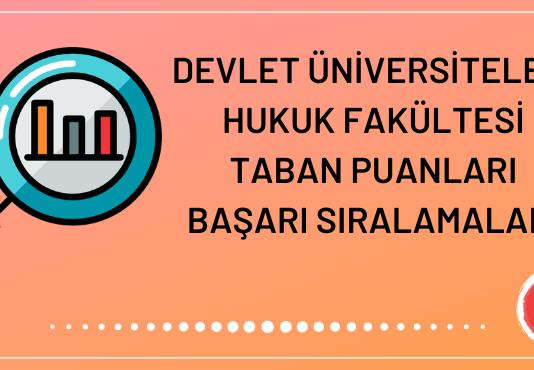 Devlet Üniversiteleri Hukuk Fakültesi Taban Puanları 2020