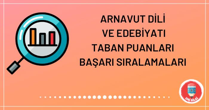 Arnavut Dili ve Edebiyatı Taban Puanları