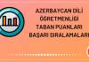 Azerbaycan Dili Öğretmenliği Taban Puanları 2020