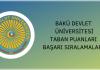 Bakü Devlet Üniversitesi Taban Puanları