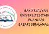 Bakü Slavyan Üniversitesi Taban Puanları