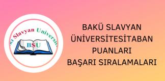 Bakü Slavyan Üniversitesi 2020 Taban Puanları