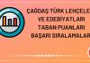 Çağdaş Türk Lehçeleri ve Edebiyatları Taban Puanları