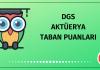 DGS Aktüerya Taban Puanları