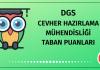 DGS Cevher Hazırlama Mühendisliği Taban Puanları