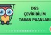 DGS Çeviribilim Taban Puanları 2020