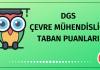 DGS Çevre Mühendisliği Taban Puanları