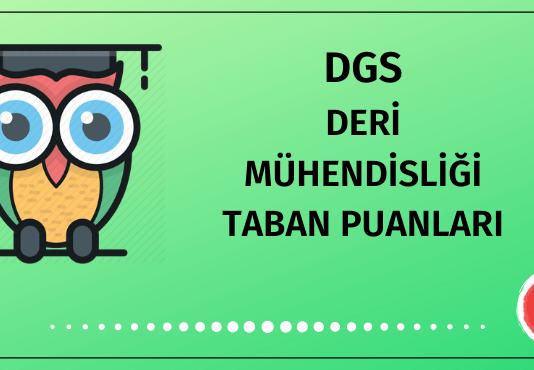 DGS Deri Mühendisliği Taban Puanları