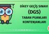 DGS Taban Puanları