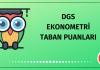 DGS Ekonometri Taban Puanları