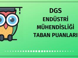 DGS Endüstri Mühendisliği Taban Puanları 2020