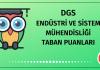DGS Endüstri ve Sistem Mühendisliği Taban Puanları 2020