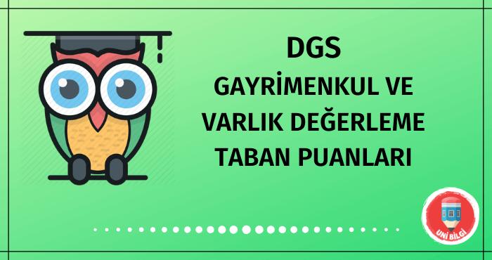 DGS Gayrimenkul ve Varlık Değerleme Taban Puanları 2020