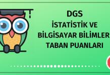 DGS İstatistik ve Bilgisayar Bilimleri Taban Puanları