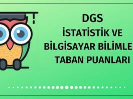 DGS İstatistik ve Bilgisayar Bilimleri Taban Puanları 2020