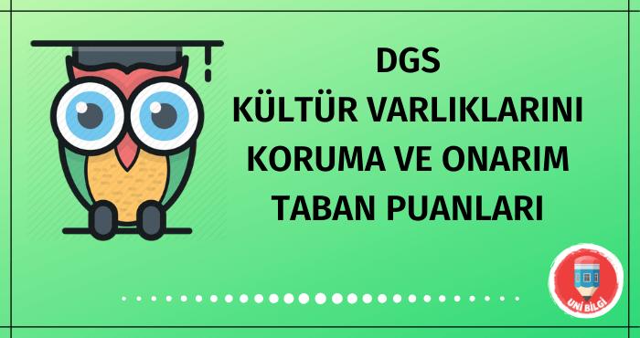 DGS Kültür Varlıklarını Koruma ve Onarım Taban Puanları