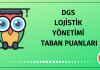DGS Lojistik Yönetimi Taban Puanları