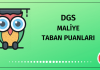 DGS Maliye Taban Puanları