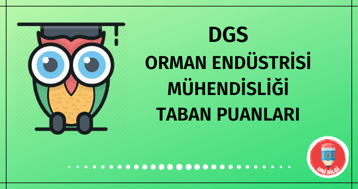 DGS Orman Endüstrisi Mühendisliği Taban Puanları