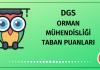 DGS Orman Mühendisliği Taban Puanları