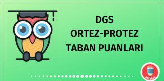 DGS Ortez-Protez Taban Puanları 2020