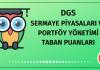 DGS Sermaye Piyasaları ve Portföy Yönetimi Taban Puanları 2020