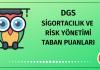 DGS Sigortacılık ve Risk Yönetimi Taban Puanları 2020