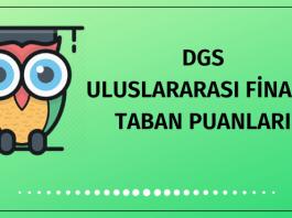 DGS Uluslararası Finans Taban Puanları 2020